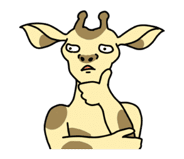 Exaggerated giraffe sticker #1229986
