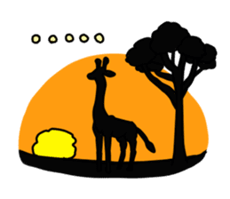 Exaggerated giraffe sticker #1229995