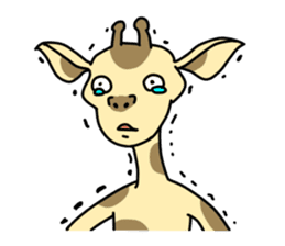 Exaggerated giraffe sticker #1229998