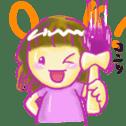 Kendama and Children sticker #1231129
