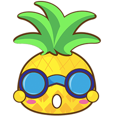 Yoya, the sweet cute yellow pinapple