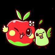 สติ๊กเกอร์ไลน์ Applerabbit and Pearbird