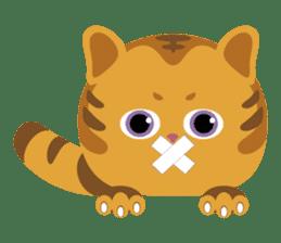 Kitkit, the cute pillow kitten sticker #1234567