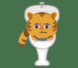 Kitkit, the cute pillow kitten sticker #1234594