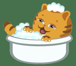 Kitkit, the cute pillow kitten sticker #1234597