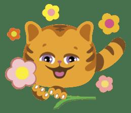Kitkit, the cute pillow kitten sticker #1234598