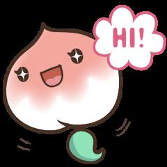 Peri, the sweet cute little peach fruit