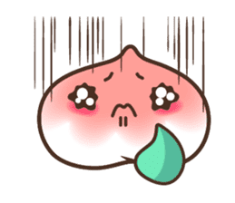 Peri, the sweet cute little peach fruit sticker #1234724