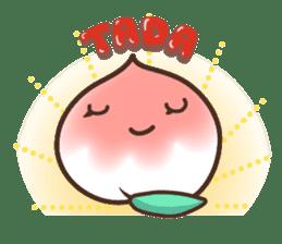 Peri, the sweet cute little peach fruit sticker #1234725