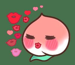 Peri, the sweet cute little peach fruit sticker #1234731