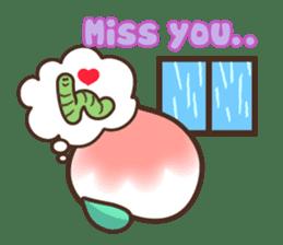 Peri, the sweet cute little peach fruit sticker #1234751