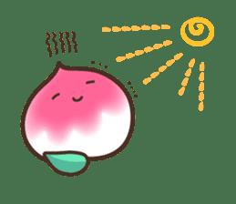 Peri, the sweet cute little peach fruit sticker #1234758