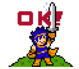 8-bit QUEST sticker #1235002