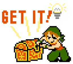 8-bit QUEST sticker #1235038