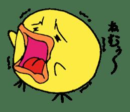Chick Tomochan sticker #1235843