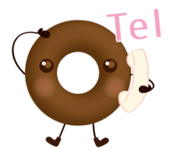 lovely donut sticker #1237976