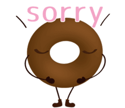 lovely donut sticker #1237980