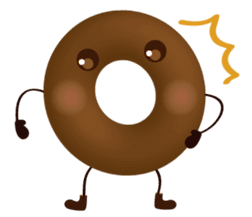 lovely donut sticker #1237982