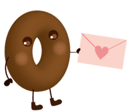 lovely donut sticker #1237986