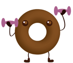 lovely donut sticker #1237990