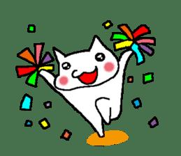 white cat husband sticker #1238369