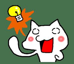 white cat husband sticker #1238393