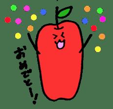 long apple sticker #1238430