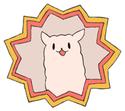 innocent alpaca. sticker #1239002
