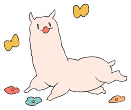innocent alpaca. sticker #1239038