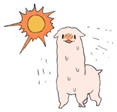 innocent alpaca. sticker #1239039
