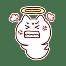 cat angel sticker #1240239