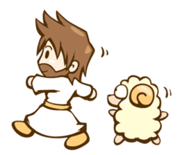 Little Lamb & the Shepherd 1 sticker #1240886