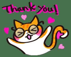 Glasses cat Tora sticker #1248242