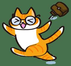 Glasses cat Tora sticker #1248255