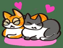 Glasses cat Tora sticker #1248261