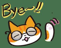 Glasses cat Tora sticker #1248266