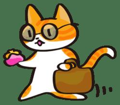 Glasses cat Tora sticker #1248270