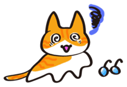Glasses cat Tora sticker #1248277