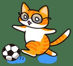 Glasses cat Tora sticker #1248280