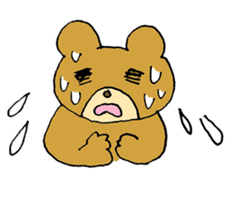 Lazy small bear sticker #1250526