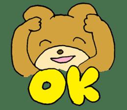 Lazy small bear sticker #1250531