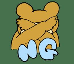 Lazy small bear sticker #1250532