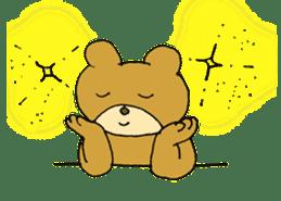 Lazy small bear sticker #1250533