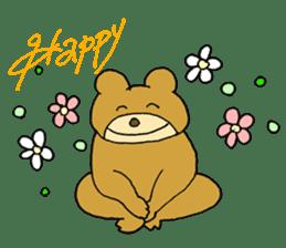 Lazy small bear sticker #1250538