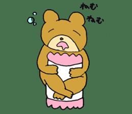 Lazy small bear sticker #1250541