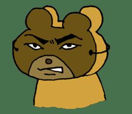 Lazy small bear sticker #1250550