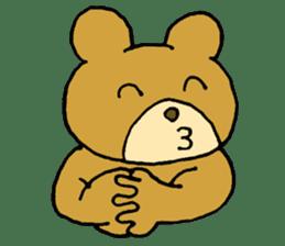 Lazy small bear sticker #1250559