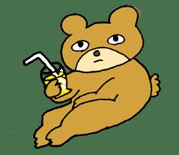 Lazy small bear sticker #1250561