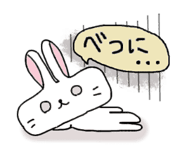 long face rabbit 2 sticker #1250925