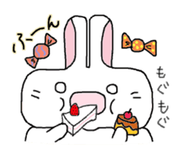 long face rabbit 2 sticker #1250926